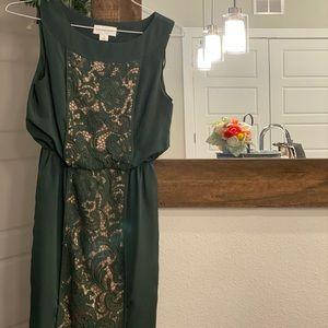 Midi green dress.